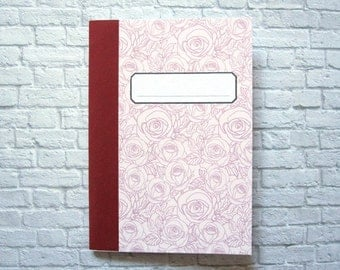 """Roses"" ruled notebook DinA6"