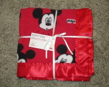 Mickey Mouse Fleece Blanket, Baby Blanket, Shower Gift, Crib, Lap, Stroller, Car Seat Blanket, Toddler Blanket, Security Blanket