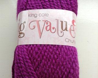 King Cole bug value chunky 100g balls damson - 10 balls