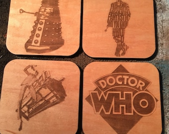 Doctor Who inspired coasters