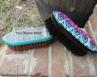 2 Piece Set Navajo Horse/Dog Grooming Stiff Bristle Brush Set Monogrammed