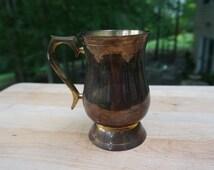 Vintage Brass Mug, Made in India