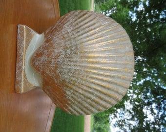Vintage, Mid Century Modern Seashell Vase