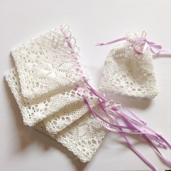 Wedding Favor Bags With Ribbon : lace favor bags with satin ribbonlace favor bags for wedding favor ...