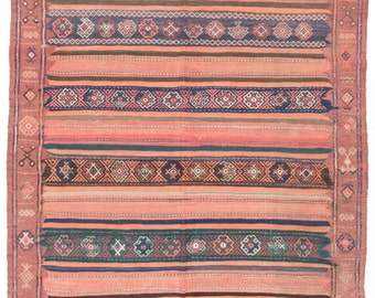 "Vintage Flatweave Persian Sumak Kilim Rug, 5'4"" x 16'5"""