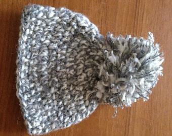 Grey newborn hat, crotchet newborn photography props, uk based