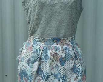 hostess apron, half apron, vintage style apron