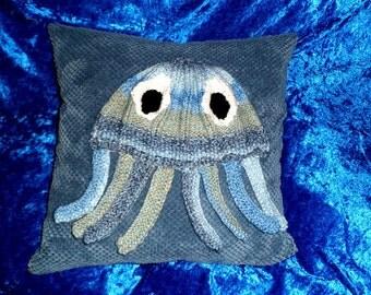 SEA BLUE OCTOPUS Cushion Cover.