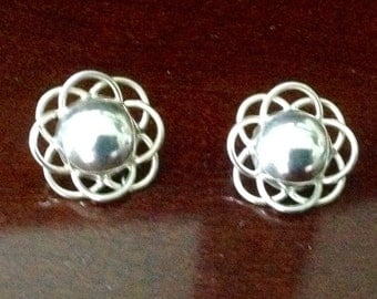 STERLING SILVER TAXCO Piereced Earrings