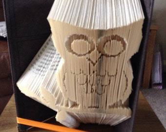 Owl on a Branch Book Folding Pattern (Combination Fold)
