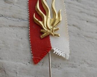 Vintage Boy Scout Fire Ribbon Pin.1940's