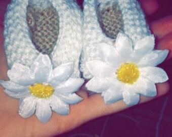 Newborn Gift Cute Handmade Daisy Booties