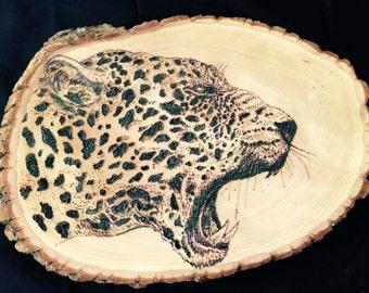 Large Custom Wood Burned Wall Art