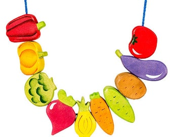 "Lacing Beads ""Vegetables"""