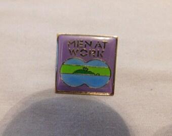Vintage 1980s MEN AT WORK enamel pin