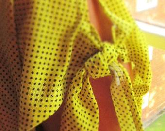 Vintage Yellow Polka Dot Top