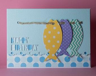 Handmade Fishing Birthday card