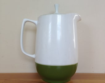 Green and White Insulated Thermos Pitcher with lid
