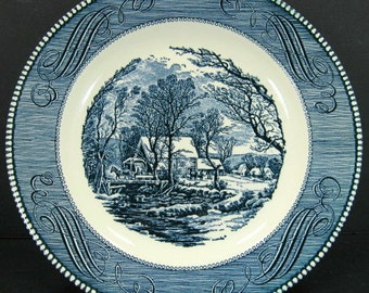 Royal China Currier Ives Old Grist Mill 10in Dinner Plate