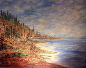 "Islanders retreat 20 x 24"" landscape original oil painting on gallery wrapped canvas by Susan Cere"