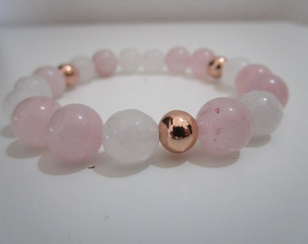 Rose quartz bracelet, Natural stone bracelet, Womens jewelry, Womens bracelet, Gift, Gift for women, Jewelry, Bracelet, Summer bracelet