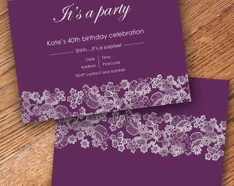 Personalised Invitation - Digital File