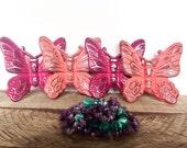 Cast Iron Butterfly Set - Butterfly Wall Decor - Garden Nursery Decor - Princess Nursery - Wall Butterflies - Metal Butterfly Wall Art