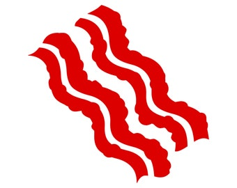 Bacon Strips Funny Vinyl Decal 0065