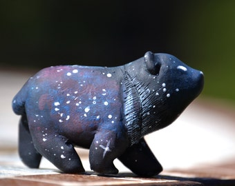 Night Sky Moon Bear Figurine