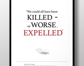 We could be Expelled! Hermione Granger. Harry Potter fan art Poster