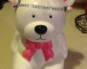 Ceramic Teddy Bear Bank - pai ted & personalized