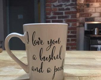 A Bushel and a Peck mug