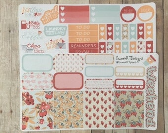 "Small Weekly Planner Kit ""Fall Berries"""