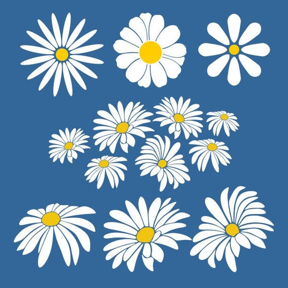 Download Daisy Flower Cuttable Design SVG DXF EPS use with Silhouette
