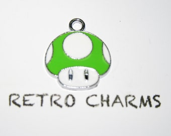 Sterling Silver Mario 1UP Retro Charm