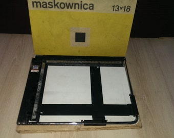 Vintage Poland Picture Frame, Limiter Photos 13/18 Maskownica, Vintage Photographic Tool from 1970s