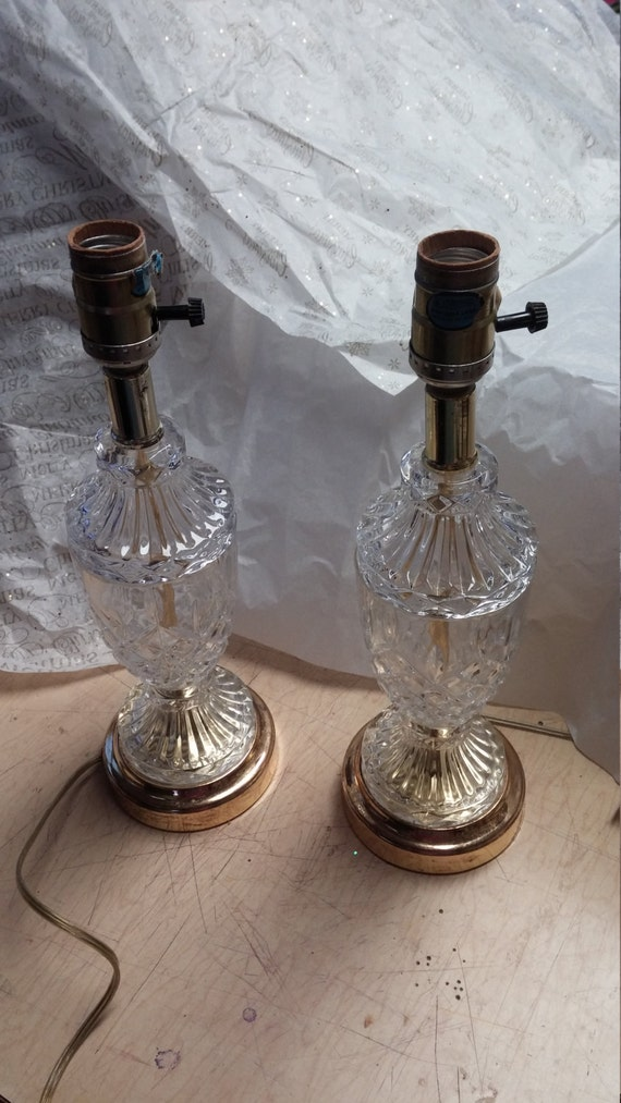 Cut glass table or vanity lamps accent lamp table lamps