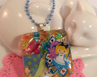 Alice In Wonderland Resin Pendant