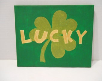 """8x10"""" Canvas Painting: Lucky"""