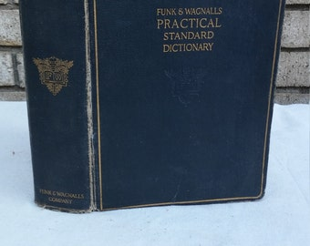 1928 Funk and Wagnalls Practical Standard Dictionary signed by Professor Frank H Vizetelly as editor and arranger