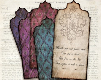Spell Tags for Magic Printable Double-sided wicca witchcraft