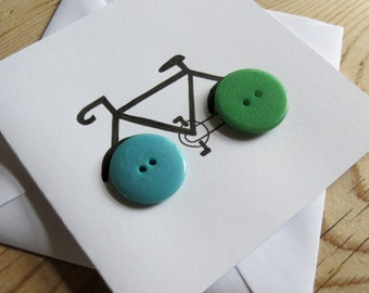 Handmade Bicycle Button Card