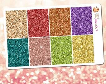 Autumn / Thanksgiving / Fall / Harvest Glitter Full Box Planner Stickers