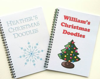 Personalised Kids Doodle Pad - Christmas activity, stocking filler