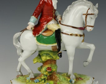 Antique E&A Muller figurine Horseman