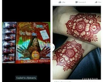 GOLECHA henna in maroon madam.x.cone