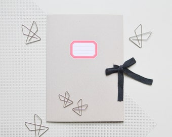 Recycling Paper Folder Binder Artist with Ribbon DIN A4 Letter