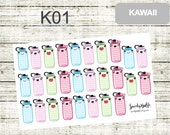 K01/K02 Kawaii Hydrate Bottles, perfect for any Planner