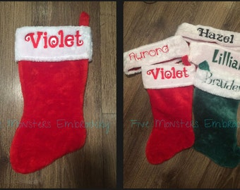 Custom Personalized Embroidered Christmas Stockings !!!SALE!!!