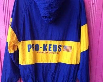 RARE vintage pro-keds sweater hooded M
